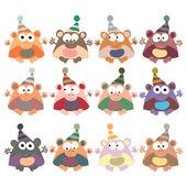 Monkeys in retro style — Stock Vector