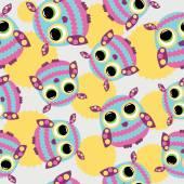 Seamless pattern with  owls. — Cтоковый вектор