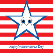 Happy Independence Day USA Greeting card. — Stock Vector
