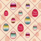 Easter eggs and beads — Stock Vector