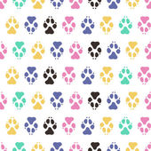 Traces dogs seamless vector pattern. — Stock Vector