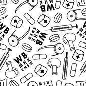 Medicine seamless pattern. — Stock Vector