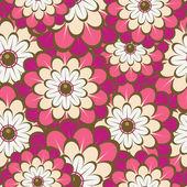 Sfondo floreale con fiori multicolori. — Vettoriale Stock