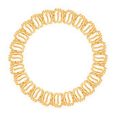 Round frame,gold chain — Stock Vector