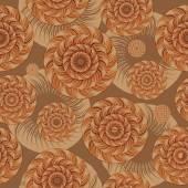 Oändliga mönster av cirklar — Stockvektor