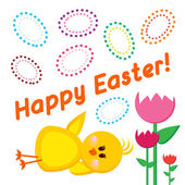 Easter greetings card Happy Easter — 图库矢量图片