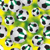 Footballs. texture soccer ball. — Stock Vector