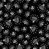 Cartoon diamond seamless vector background. Template for your design. — Stock Vector