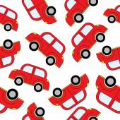 Cartoon cars seamless pattern. Template for design. — Stock Vector