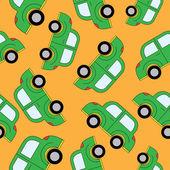 Kreslená auta vzor bezešvé. Šablona pro design. — Stock vektor