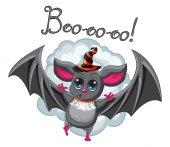 Bat halloween hat on a white background. Vector illustration. — Stock Vector