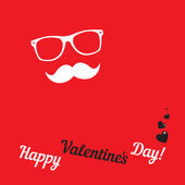 Greeting card for hipsters Happy Valentines Day — Wektor stockowy