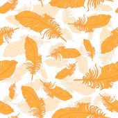 Plumage background seamless pattern vector. — Stock Vector