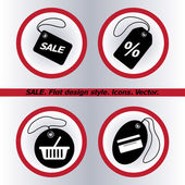 SALE tag icons — Stock Vector