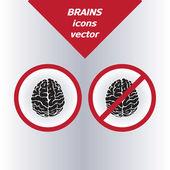 Brain icons. — Stock Vector