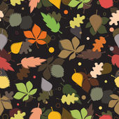 Seamless pattern of autumn leaves. — Stock Vector