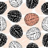 Brain seamless background — Stok Vektör