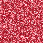 圣诞红无缝模式。矢量图。新的一年 — 图库矢量图片
