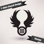 T-Shirt Stencil Design vector illustration. Template for your design — Vector de stock