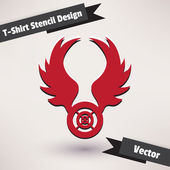 T-Shirt Stencil Design — Stock vektor