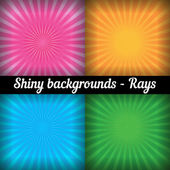 Rays. Sunburst Pattern. Vector set of different colors. — Stock Vector