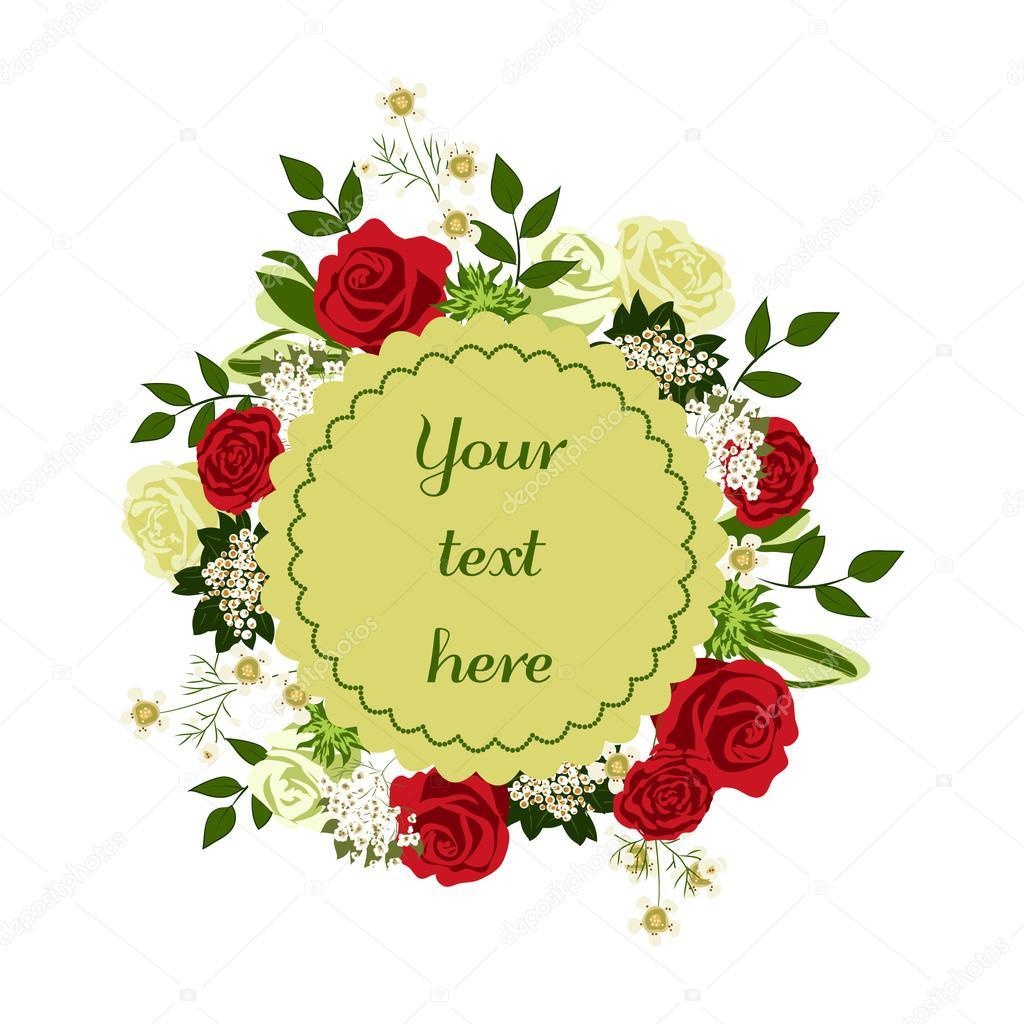 Floral Positive Motivational Quotes: Cartão Floral Brilhante Com Flores Bonito Desenho Animado