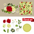 Hand Drawn floral elements. Set of flowers. You can make your bouquet. — Stock Vector #58796663