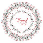 Vector floral frame on a white background. — 图库矢量图片