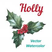 Holly berry icon Christmas symbol Vector — Stock Vector