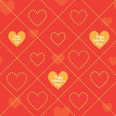 Happy Valentines Day  pattern. — Διανυσματικό Αρχείο