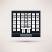 Institute, university. Icon in the flat style. — ストックベクタ