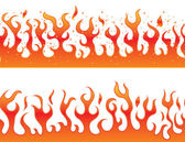Flames on a white background - continuous curb — Stock Vector