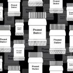 Banks peanut butter background — Stock Vector #70830357