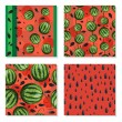 Seamless backgrounds with watermelons. — Stock Vector #73928559