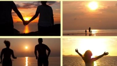 Montage - Uplifting and Inpire Moments. Motivational Concept — Stock Video