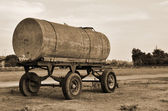 Old tanker trailer — Stock Photo