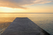Dock at sunset — Stock Photo