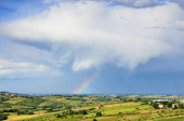 Rainbow at horizon — Photo
