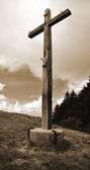 Cross in the field — Stock Photo