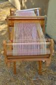 Ancient weaving machine — Stock Photo