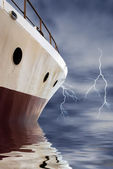 Navigating to the storm — Stock Photo