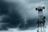 Lightning and radio waves — Stock Photo