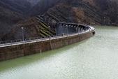Dam full of water — Stock Photo