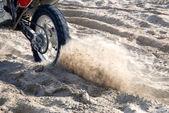 Motorbike on the sand — Stock Photo