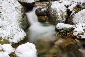 Stream in winter — Stock Photo