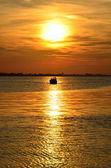 Boat in the sea — Zdjęcie stockowe