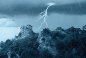 Castle into the storm — Stock Photo