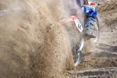 Motocross on the sand — Stock Photo