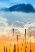 日没時のポート — ストック写真