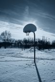 Basketball court in the evening — Stock fotografie